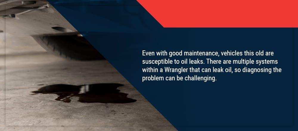 Jeep Wrangler oil leaks