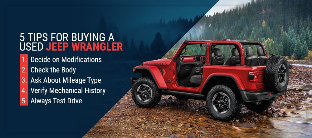 5 tips for buying a used Jeep Wrangler