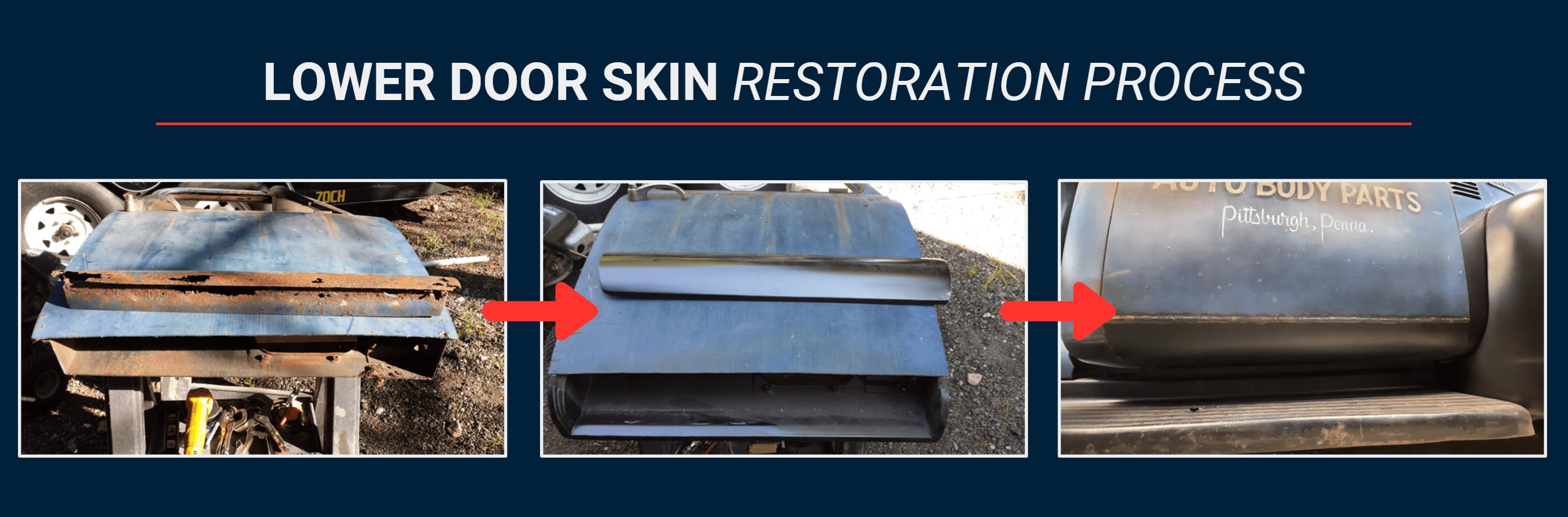 Lower Door Skin Restoration Process