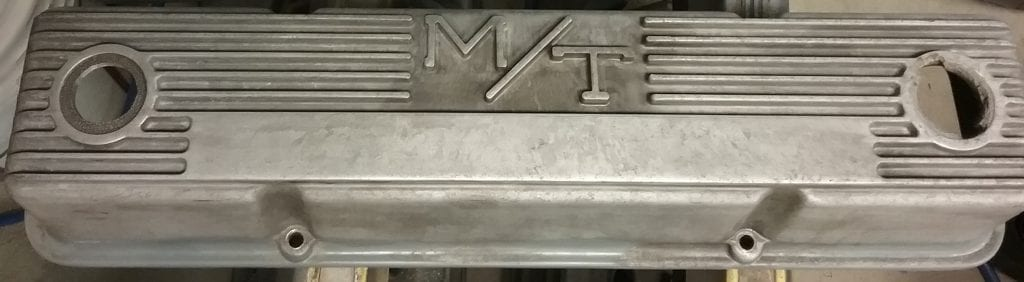 Valve cover etched