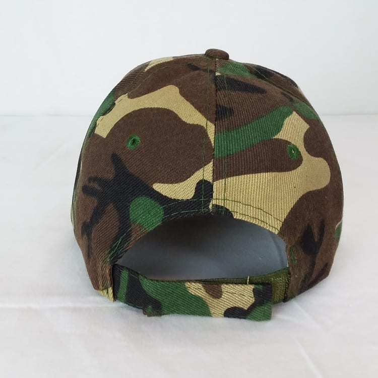 army camo hat rear